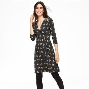 Boden Glenda Day Floral Faux Wrap Jersey Dress